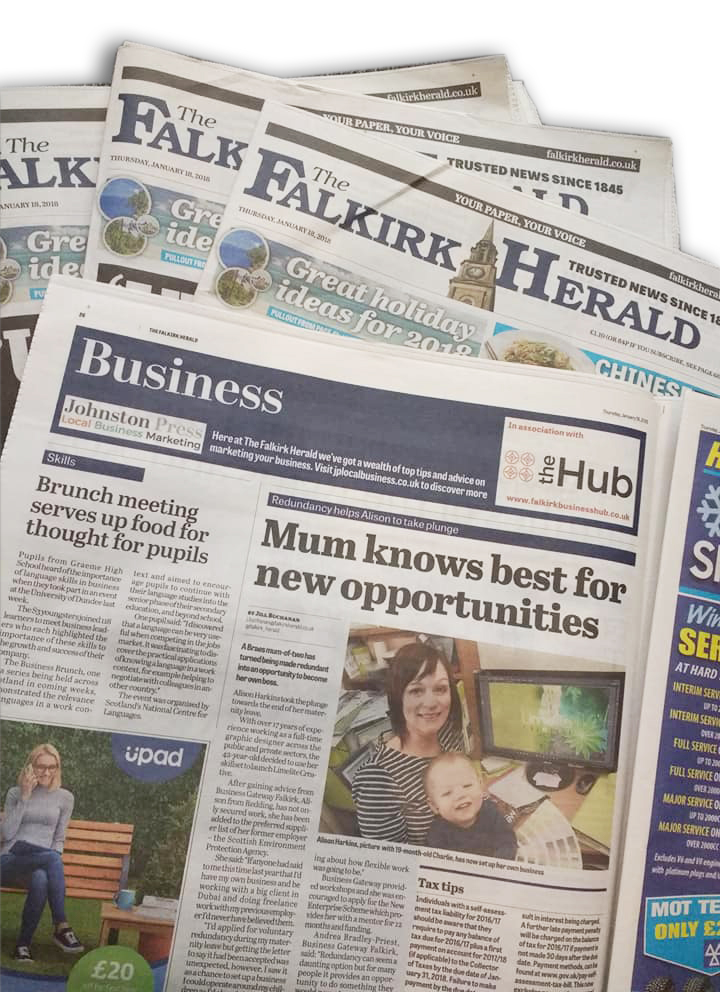 Limelite Creative Falkirk Herald PR