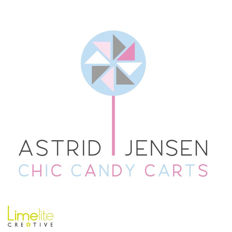 Logo Design | Astrid Jensen Chic Candy Carts
