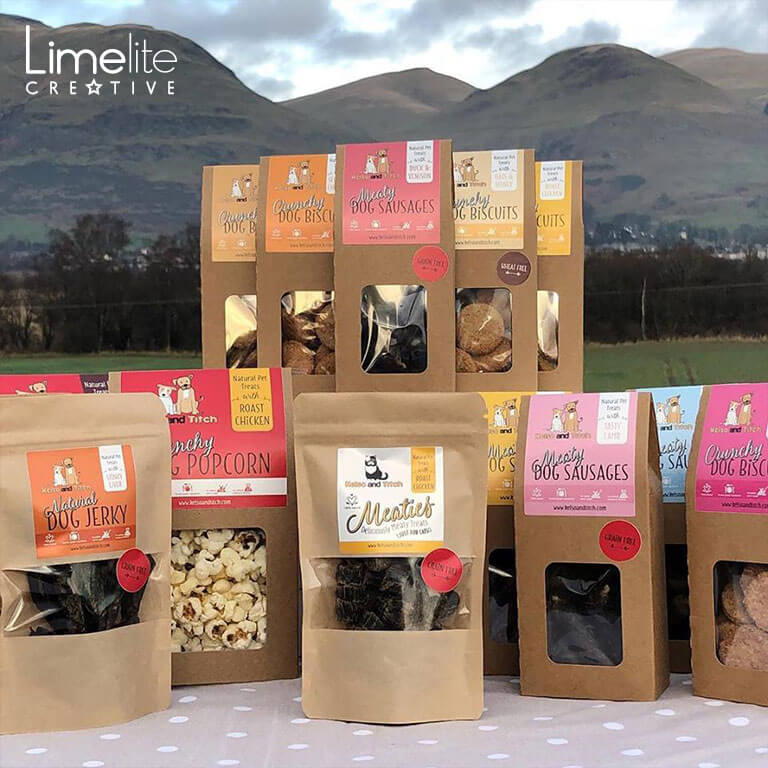limelite creative kelso & titch quirky packaging design for dogs