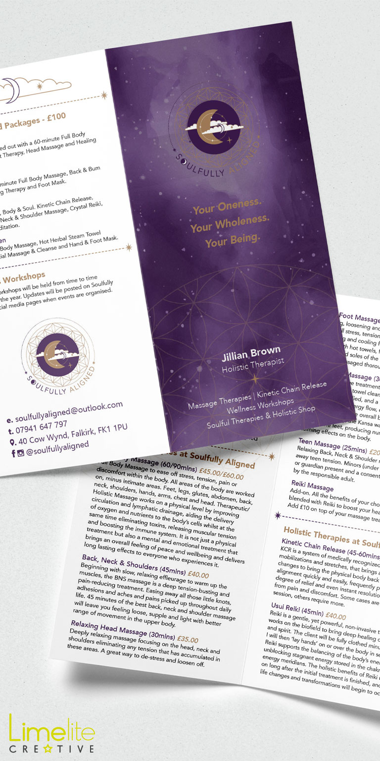 Leaflet Design | Soulfully Aligned