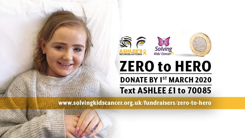 zero to hero ashlees neuroblastoma appeal logo design by limelite creative please donate