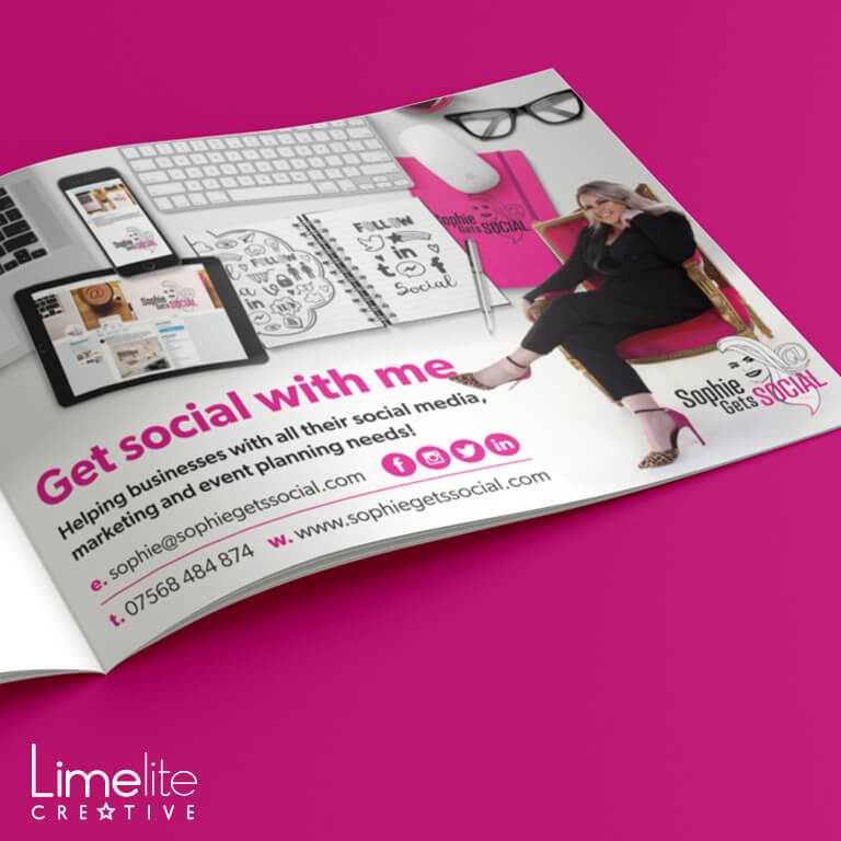 sophie gets social professional ad design by limelite creative