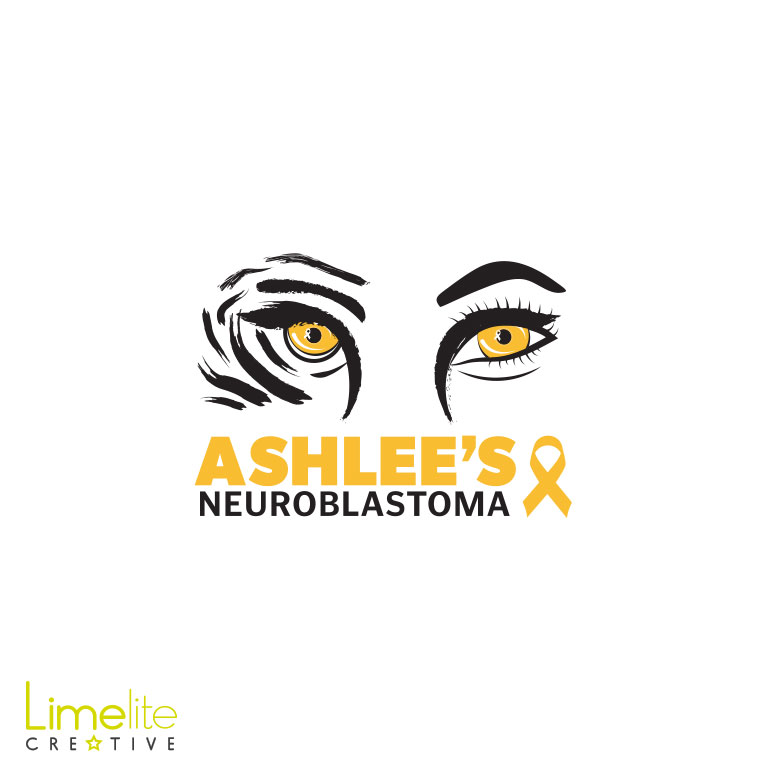 ashlees neuroblastoma appeal logo design by limelite creative please donate