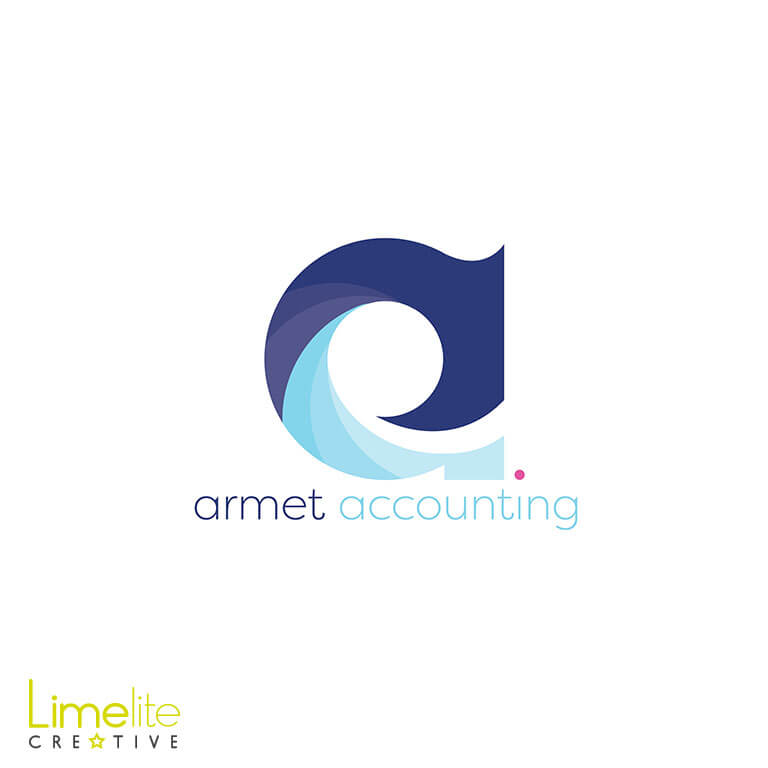 modern elegant logo design for accountants by limelite creative